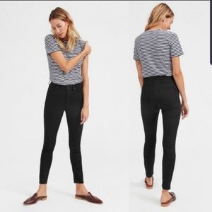 Everlane Black High Rise Skinny Jeans